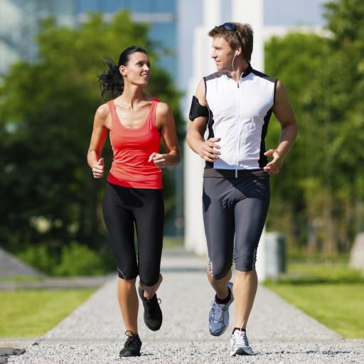 man-woman-jog